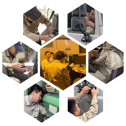 渣土车监控系统安装现场,鼎洲电子
